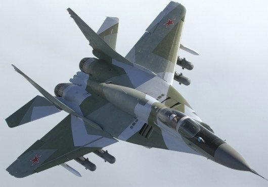 俄空军一架米格 29战斗机坠毁 飞行员丧生