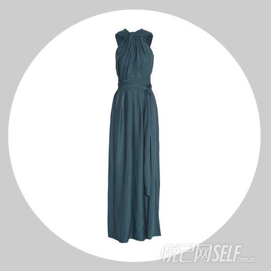 LANVIN 缩褶针织绉纱礼服 $3,626.50