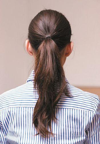 STEP3:马尾高度在上耳