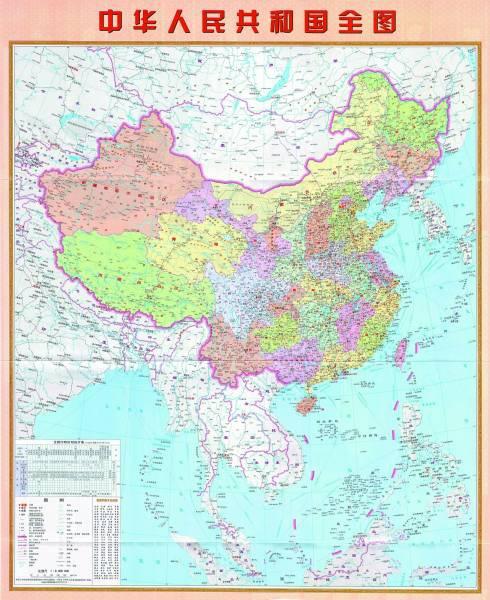 竖版中国地图.资料图片