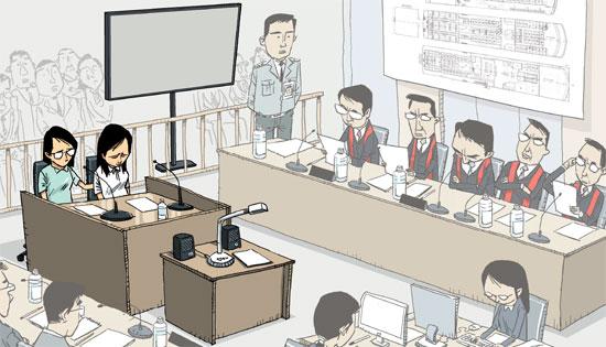 """7月28日上午,韩国水原地方法院安山支院对""""世越号""""沉没时获救的檀园高中学生进行了证人询问。"""