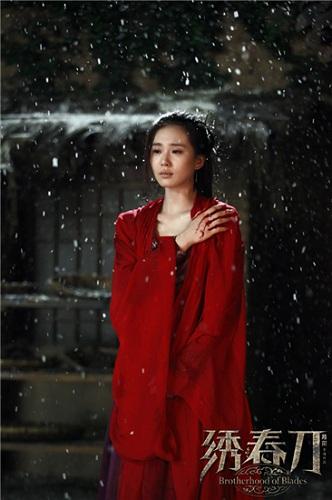 刘诗诗红衣造型