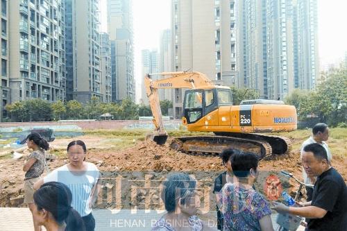 郑州/昨天,由于附近居民抗议,红旗变电站项目再次停工