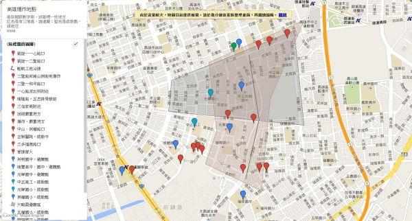 台湾网友自制气爆地图