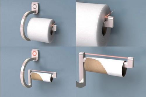 RollScout智能手纸架 让你如厕不再尴尬(图片来自安珀网)