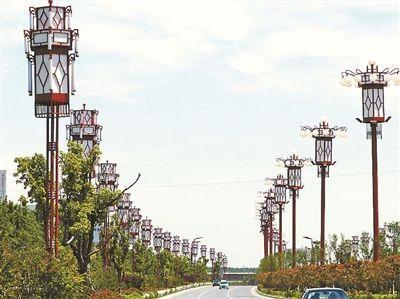安徽宿州市景观大道路灯一年电费300万元摄影/新华社记者 王圣志
