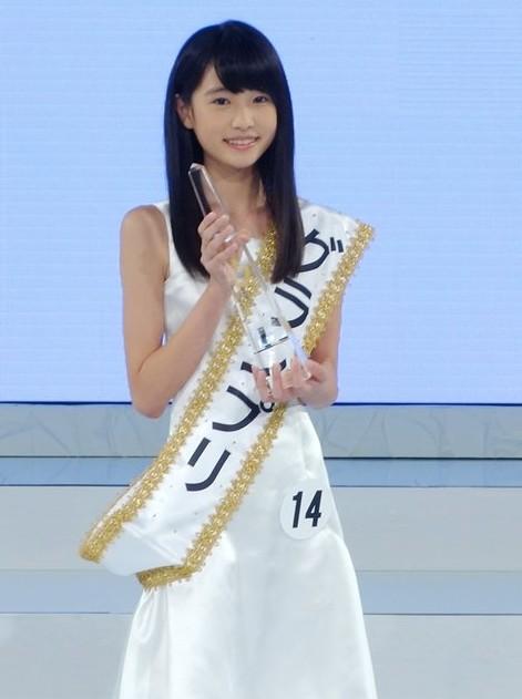 12岁日本少女图_第14届日本国民美少女大赛 12岁初中生高桥光夺冠(组图)