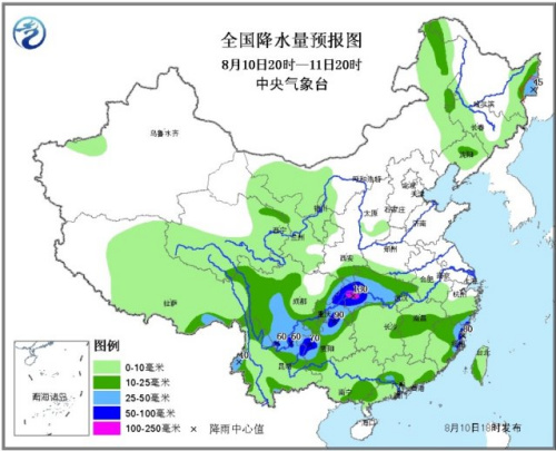 中新网8月11日电据中央气象台消息,未来三天,云南鲁甸震区将有较强降水过程,重庆湖北等地有强降雨。