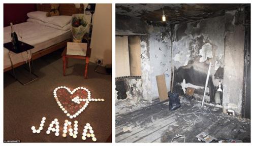 英国一名男子本想给女友一个惊喜,在房间里布置了蜡烛、香槟、鲜花迎接女友回家,结果不料蜡烛被打翻引发火灾,家中物品被烧个精光。