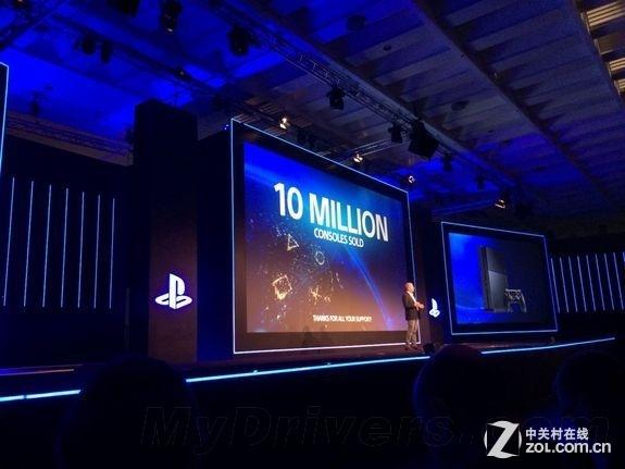 创最速纪录 索尼PS4全球销量1000万台