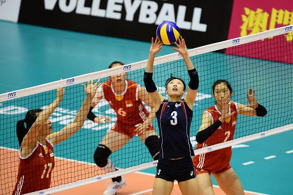 图文:[大奖赛]女排3-1韩国 韩国队组织