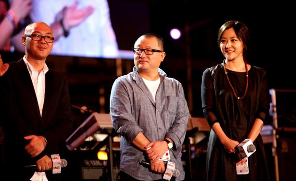 郝蕾与王小帅等作为评委出席某映像节