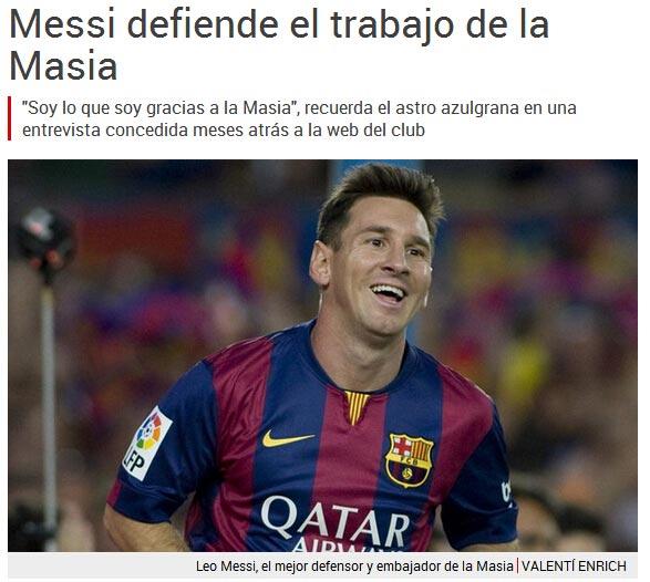 国际足联处罚巴萨梅西为俱乐部鸣不平