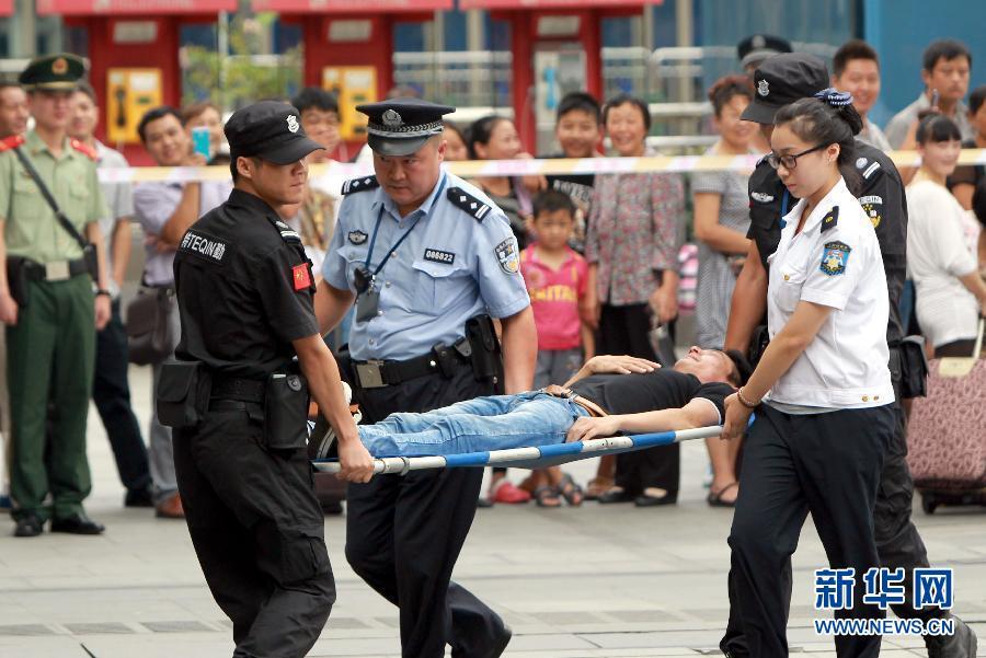 """上海火车站举行""""一分钟处置""""能力应急演练"""