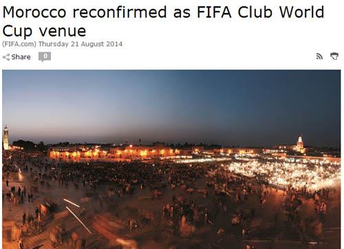 国际足联确认世俱杯依旧在摩洛哥举行