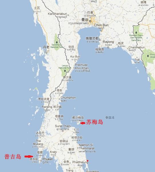 苏梅岛地图