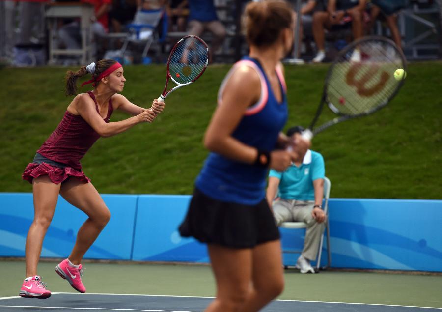 中国网球女双摘金