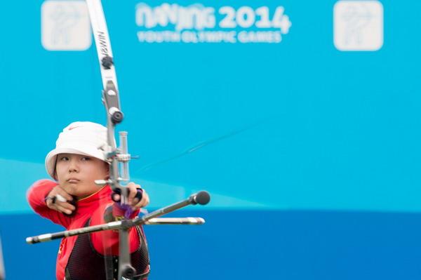 赛艇:图文反曲弓个人v赛艇反曲弓青奥比赛中女子300gw250图片