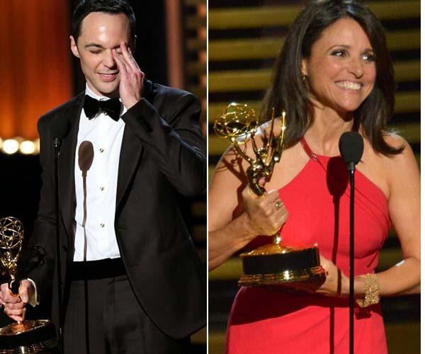 《生活大爆炸》主演谢耳朵四夺艾美奖、《副总统》朱莉安娜也是第三次拿奖