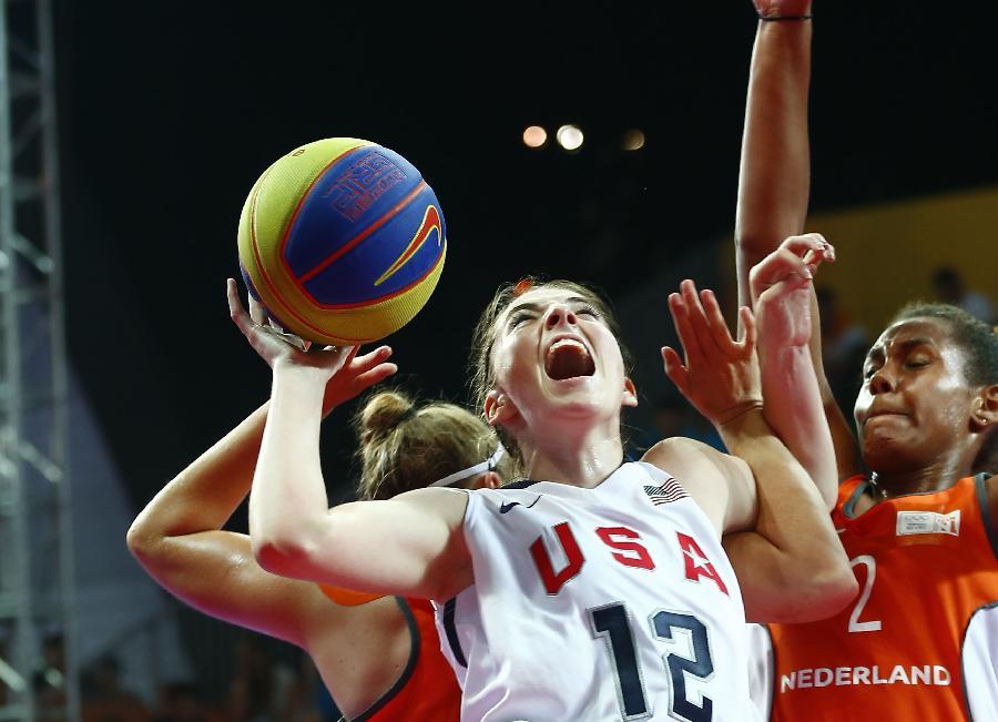 (青奥会)(9)三人篮球——女子:美国队夺得金牌(图)