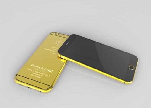 用24K黄金和钻石打造黄金版iPhone6。此外还有玫瑰金、铂金及钻石镶嵌版本<b