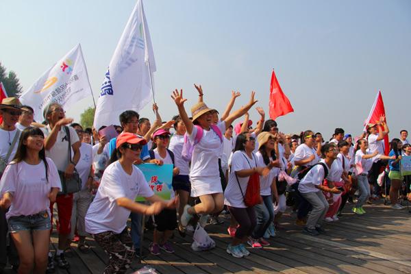 延庆和张家口市民代表参加活动为申办冬奥会加油