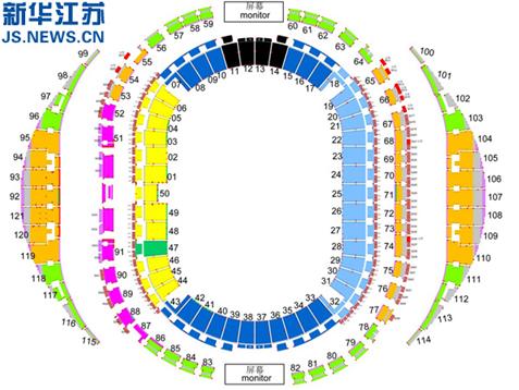 南京青奥会闭幕式将在南京奥体中心体育场举行.闭幕式现场预