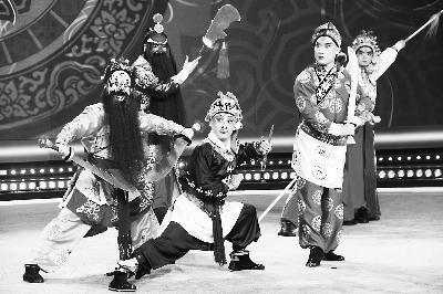参赛选手表演《三盗令》(中国戏曲学院供图)