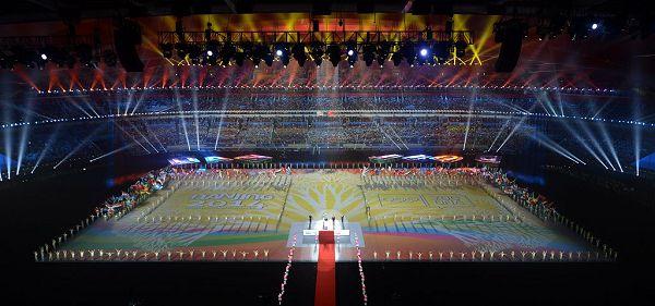 图文:南京青奥会闭幕式盛况 闭幕式现场