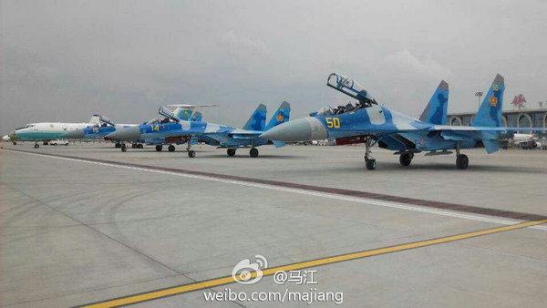 """大批外国战机""""迫降""""银川 中国军方回应(图)"""