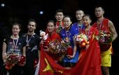 图文:羽毛球世锦赛混双决赛 颁奖仪式