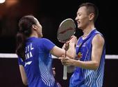 图文:羽毛球世锦赛混双决赛 开心笑脸