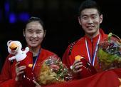 图文:羽毛球世锦赛混双决赛 刘成包宜鑫铜牌