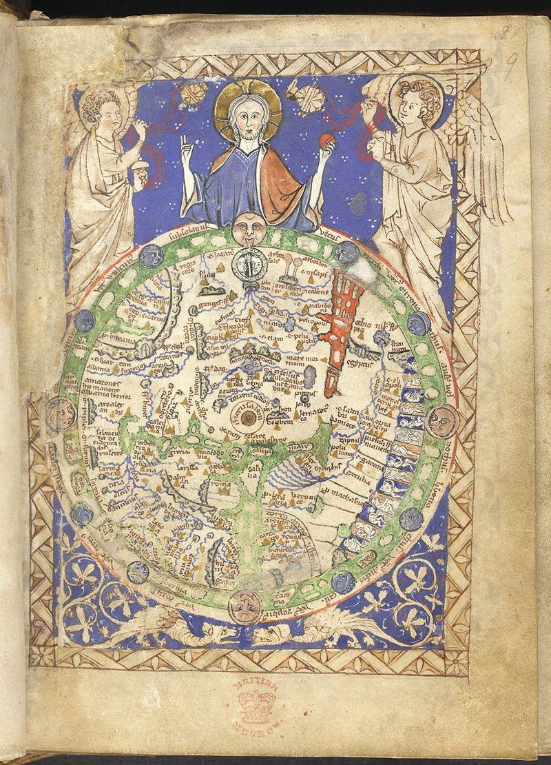 《赞美诗地图》,十三世纪英国