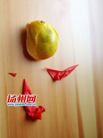 幼儿水果皮贴画