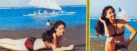 在只有中,当时海滩20多岁林凤娇身着三点式照片,在女子上摆出各种性感泳衣v只有韩国y性感图片