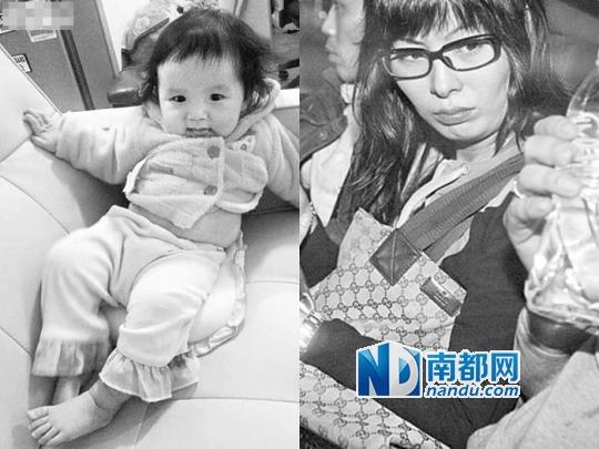 """女婴俞凯晴(下)死亡,其母吴天恩(右)谎称被操""""普通话""""口音女子掳拐。"""