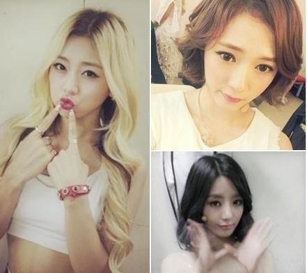 遇车祸韩女团成员生活照 高清图片