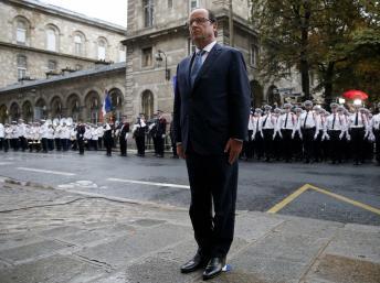 图为法国总统奥朗德。