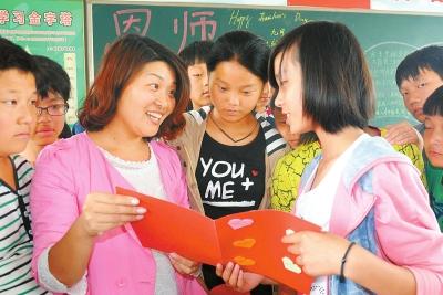 汝阳县实验初中的学生自己动手