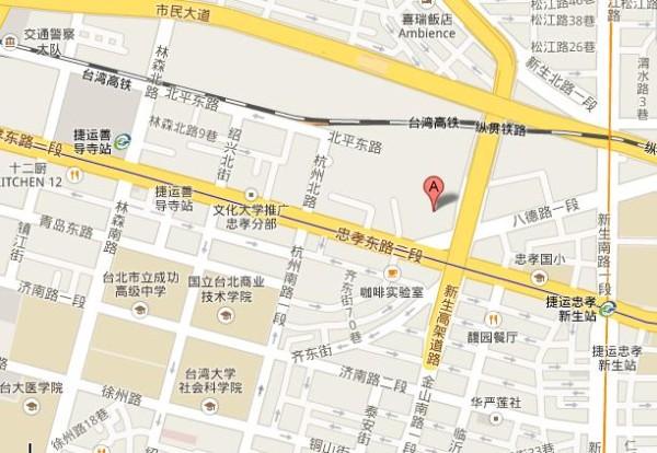 taibei景点手绘地图