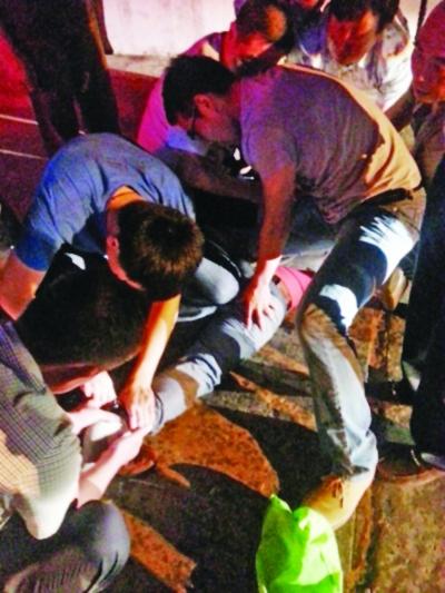 扬中街头。警方抓获惠某。警方提供