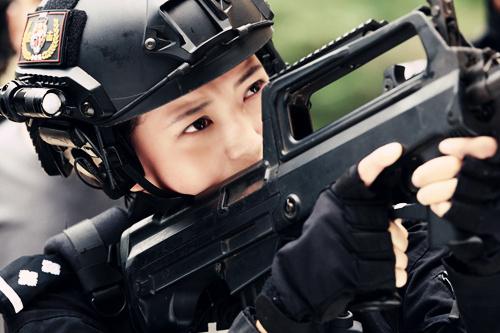 王妍之拍《特警力量》哭戏多
