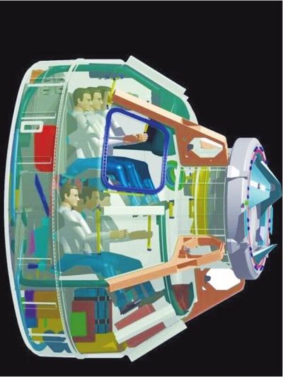CST-100航天器属于地球低轨道航天器,可搭载7名乘员。