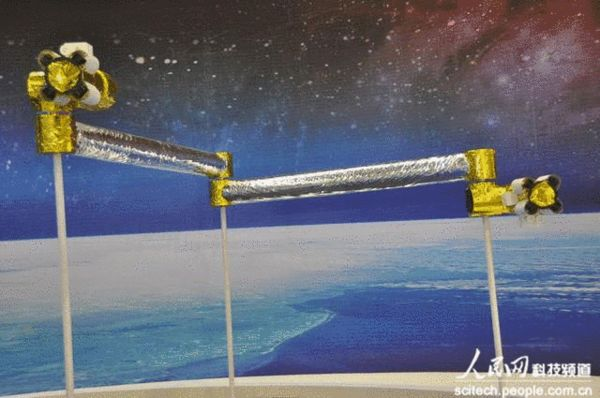 资料图:中国太空机械臂模型。