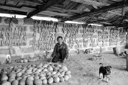 """墙上用玉米拼出的""""中国农民中国梦"""""""