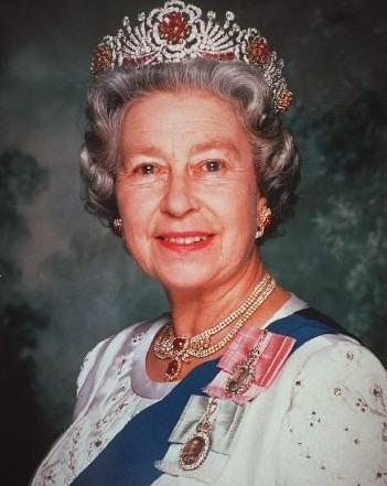 图为英女王伊莉莎白二世。