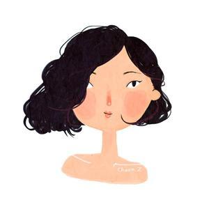 女白领代画卡通头像,已预约到11月(组图)