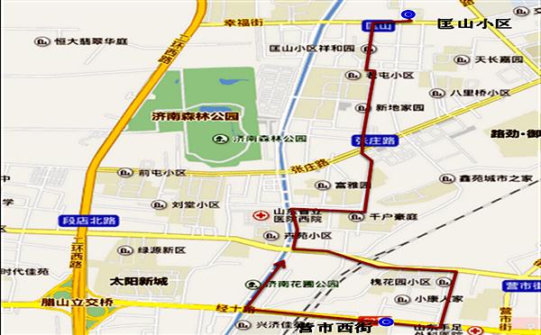 济南推出8条社区公交线路规划征求意见(附示意图)