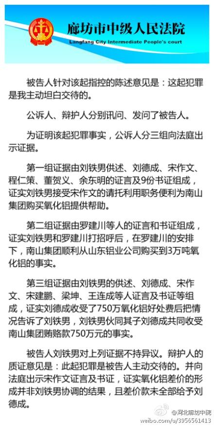法庭对刘铁男收受宋作文750万进行调查
